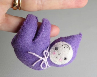 Felt Doll Cling on huggable with bendable arms and legs