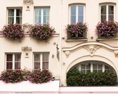 Paris Photography, Pretty in Pink in St Germain, Parisian Windows, Living Room Art, Paris Balcony, Pink Wall Art, Rebecca Plotnick