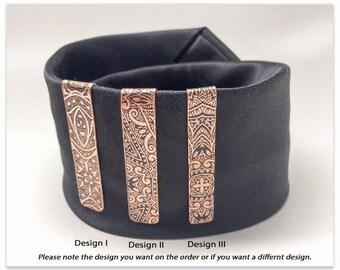 Mens Personalized Copper Tie Bar - 7th Anniversary Gift - Copper Tie Clip - Gift for Him - Monogram - Groomsmen Gift
