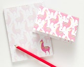 Llama Notepad & Notecards All-In-One