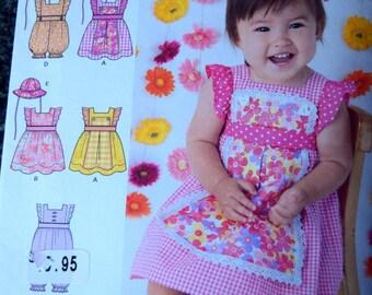 Simplicity 1470 Babies Dress, Romper and Hat (uncut) Designs by Karen Z