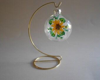 Sunflower Hand Painted Ball Glass Ball Painted Ornament Suncatcher Tree Ornament Home Decor Sunflower Ornament Christmas Ornament