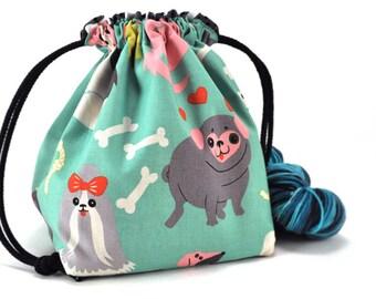 Knitting Crochet Project Bag - Doggone