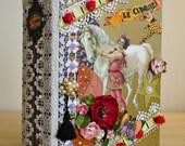Lavish Vintage Style Le Cirque Handmade Photo Mini Album