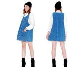 ONE DAY ONLY 90s Denim Overall Dress / denim overalls jumper dress jean dress denim dress 90s grunge ripped jeans distressed jeans ripped je