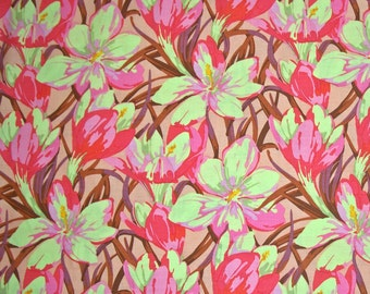 COUPON Sale - Martha Negley, Farmington, Crocus, Pink Floral Fabric, Rowan Westminster, 100% Cotton Quilt Fabric, Quilting, SELECT A SIZE