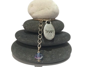 Trust Rock Cairn, Confidence, Faith, Grace, Confidence, Expectation, Belief, Loyalty, Assurance, Certainty, Conviction, Dependence Desk Gift