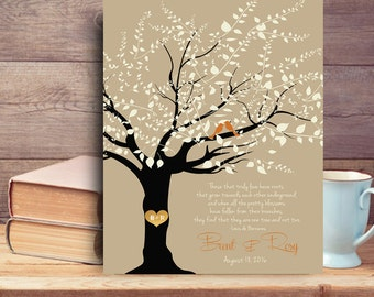 Tree canvas print Family tree custom quote mr and mrs wedding gifts gift for parents anniversary wedding gift for couple personalized gifts