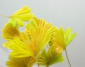 Autumn Ginkgo Leaves Tsumami Kanzashi Hair Stick, Hair pin