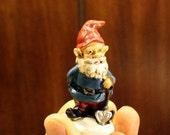 Gnomes-4 assorted styles-Small Garden gnome-Resin gnome-fairy garden decor-Terrarium supplies