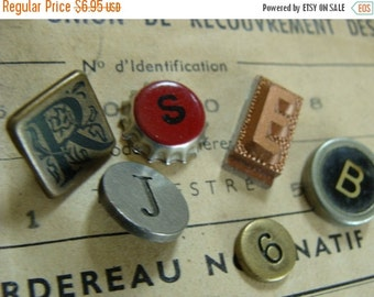 "20PercentOff Vintage Metal Numbers Typewriter Keys Mixed Steampunk N0"" identification 29"
