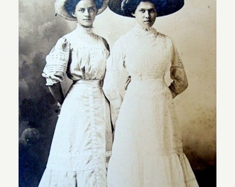 20PercentOff Antique Edwardian Stunning Cabinet Photo Very Victorian  Sisters