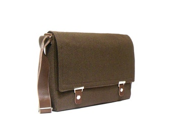 "13"" / 15"" MacBook Pro Retina messenger bag - chocolate brown"
