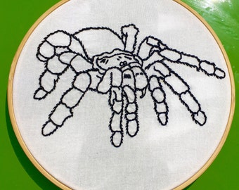 Hand Embroidered Tarantula
