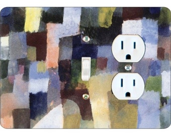 Paul Klee Painting Toggle Switch and Duplex Outlet Double Plate Cover