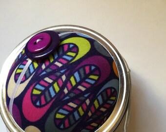 Pincushion. Mason Jar. Go-Go Waves