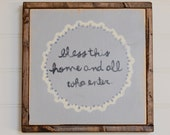 """Hand Painted Wood Sign - I love you to the moon... 13""""x13"""" - Home - Custom - Distressed - Home Decor - Annie Sloan Chalk Paint"""