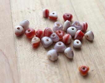 white purple and red triangular glass beads,white triangular glass beads,red triangular glass beads,purple triangular glass beads,triangular
