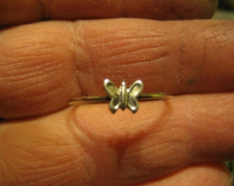 Butterfly Stacking Ring. Sterling.