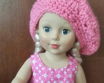 18inch Doll Pink Crochet Hat