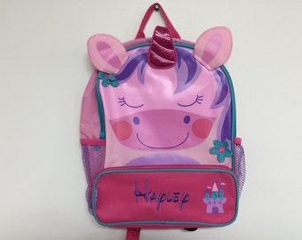 Personalized Stephen Joseph Sidekicks Unicorn Backpack NEW