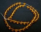 CLEARANCE - 8mm Orange Glass Beads