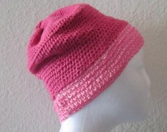 Hand Crochet Beanie Pink Hat
