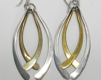 A Pair of Sterling Silver Earrings Signed TL 65...Mexico...925