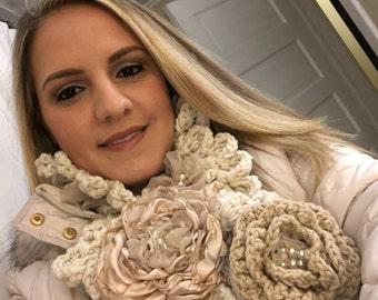 Crochet scarf, long scarf, winter scarf, warm scarf, soft scarf, fashion scarf, gift for her, accessories scarf, cowl scarf, gift scarf