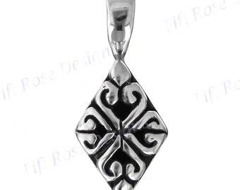 "11/16"" Bali Handmade Cast 925 Sterling Silver Pendant"