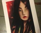 SALE print - 'Mulan' 8.5x11 Matte Print - RETIRED print