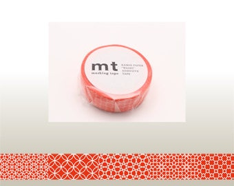 mt deco - washi masking tape - line pattern - red