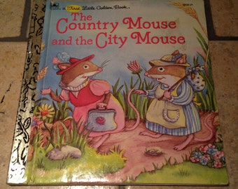 1987 The Country Mouse and the City Mouse Children's First Little Golden Book