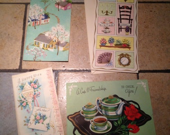 Four Unused All Occasion Assortment Greeting Cards