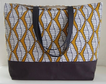 Funky Leaves XL Extra Large Beach Bag / BIG Tote Bag - Ready to Ship