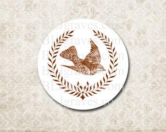 Bird Wreath Stickers Envelope Seals Wedding Party Favor Treat Bag Sticker SP078