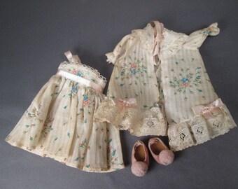Vintage Ginny Doll Outfit - Hi-Fi Fashions 6223 Nitey and Peignoir - 1957