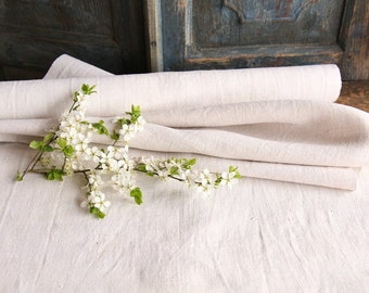 R94 antique handloomed 4.372 yard 22.83inches PALE NATURAL upholstery lin french pillow cushion