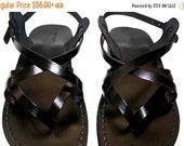 20% OFF Black Mix Leather Sandals for Men & Women