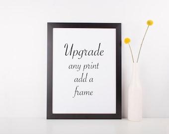 Frame Any Print, black wood frame