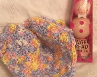 CLEARANCE Bath Fizzers & Wash Cloth Soft Crochet with Gingerbread Cookie Bath Soap