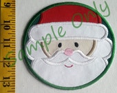 DIY Iron On Appliqué Patch SANTA