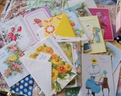 Moving Sale!  Box of Vintage Greeting Cards Birthday Baby Get Well Thank You 32 in All
