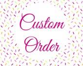 Custom Party Decor for Anna