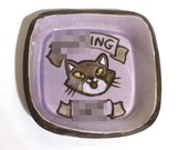 Mini Purple Rude Kitty Dish