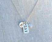 Sigma Delta Tau Charm Necklace - Sigma Delta Tau Necklace Sterling Silver Sorority Jewelry Greek Jewelry Big Sis Little Sis Gift