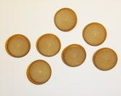 Large Tan Plastic Coat Buttons -Vintage - Set of 7