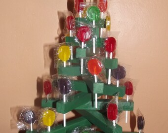 Candy Lollipop Tree, wooden, holds 28 lollipops which are included