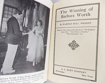 1926 Photoplay Edition Winning of Barbara Worth Harold Bell Wright Ronald Coleman Movie