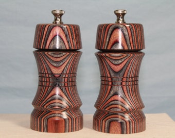 5 Inch COLORWOOD SALT and PEPPERMILL Set Numbers 1472  1473
